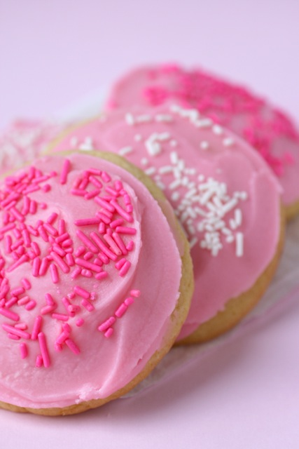 Pink frosted cookies recipe