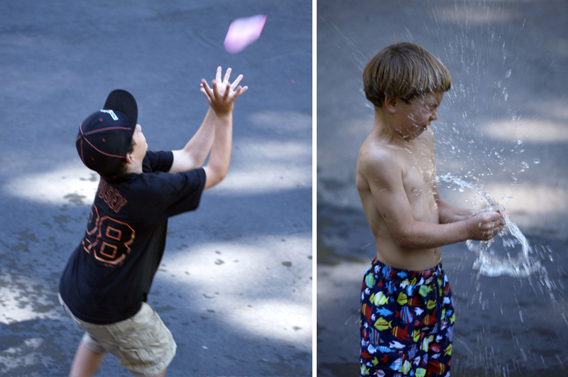 water balloon fight