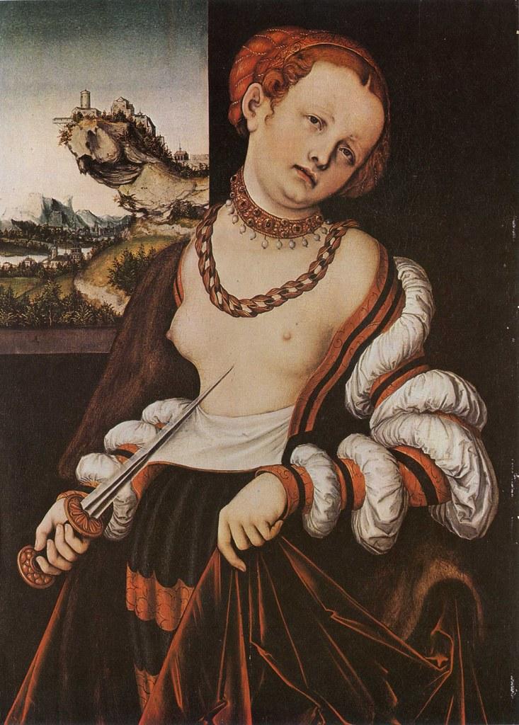 Lucas Cranach L'Ancien, Le Suicide de Lucrèce (1529)