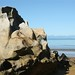 Quando a mare sobe, ela esculpe as rochas