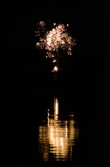 Fourth of July fireworks over Webb Lake