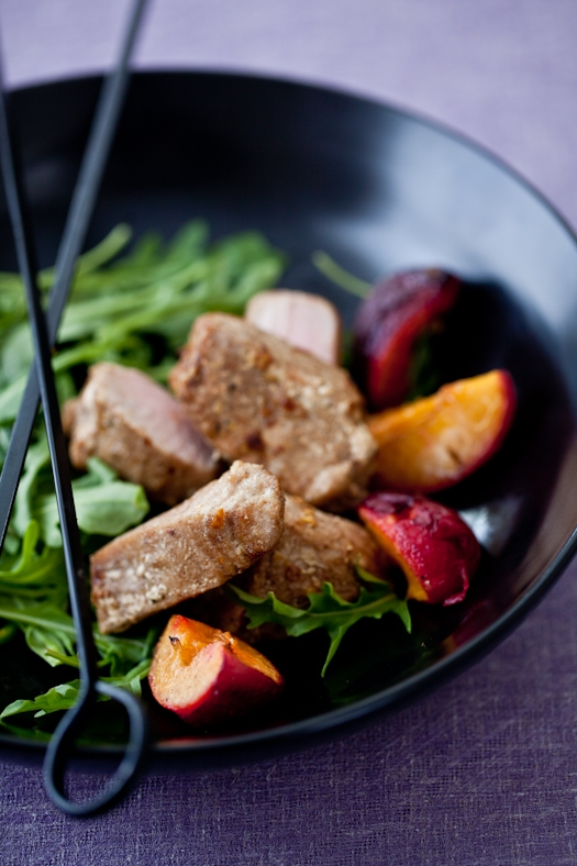 Five Spice Tuna Skewers With Grilled Velvet Apricots