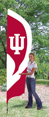 Indiana Hoosiers Tall Feather Flag