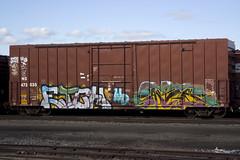 Etch & Antes (Hear45) Tags: minnesota train graffiti minneapolis mpls tc spraypaint twincities wd etch mn freight antes aerosolart graffitiart 612 traingraffiti trainart fr8 benching freightgraffiti freightart fr8art fr8graffiti