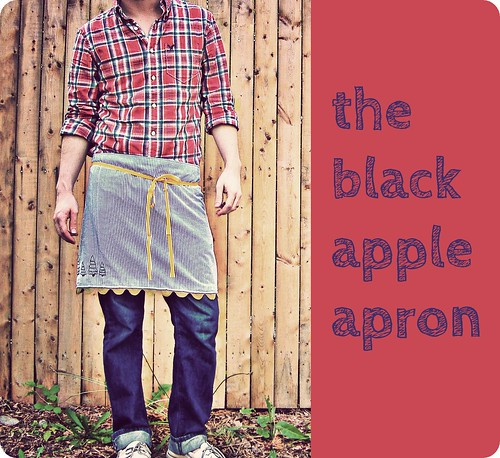 the black apple apron