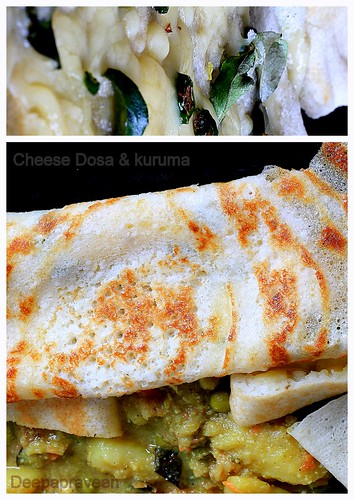 Cheese Dosa and Kuruma by {deepapraveen very busy with work..back soon