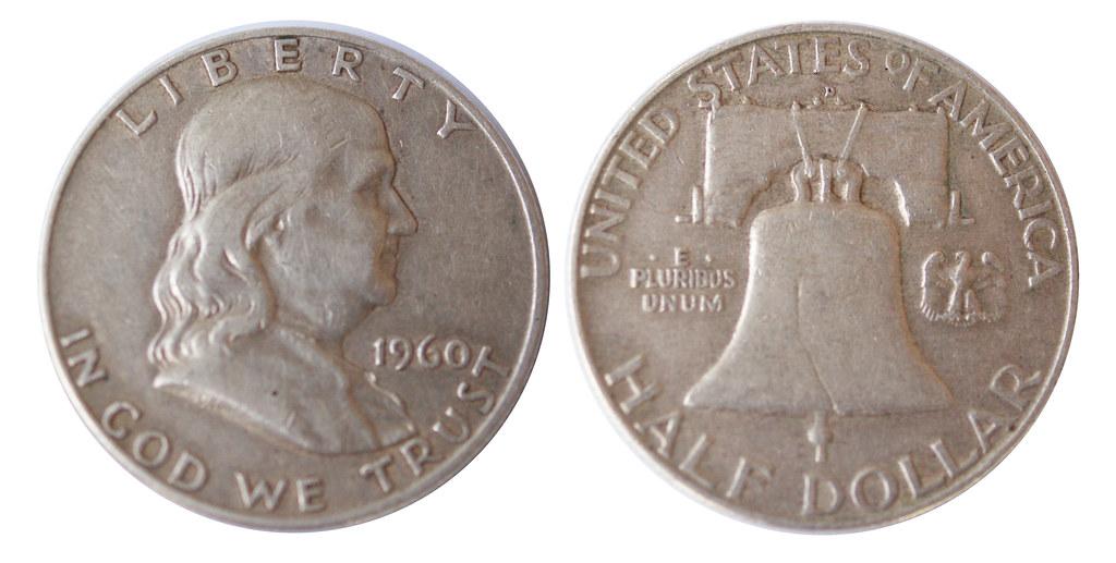 1960 Half dollar coin