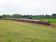57001 (Scotsguardsman100) Tags: york west coast back with loop no railway class after through harrogate heading 57 passes companys poppleton completing 57001 theroyalscosman