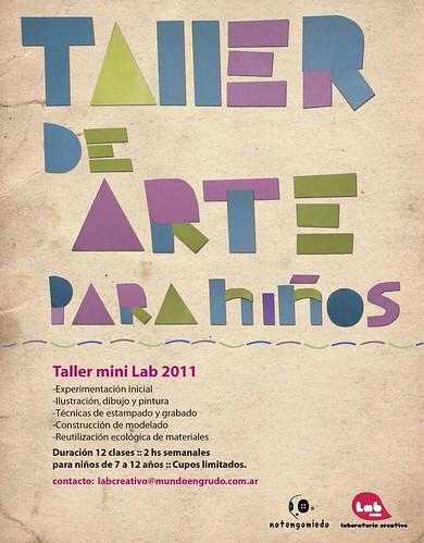 Flyer para taller de arte para niños. by vane saücedo