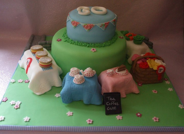 Country fair themed cake