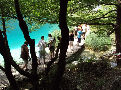 breath-taking Plitvice Lakes 2. Bridge over turquoise waters of the Lake