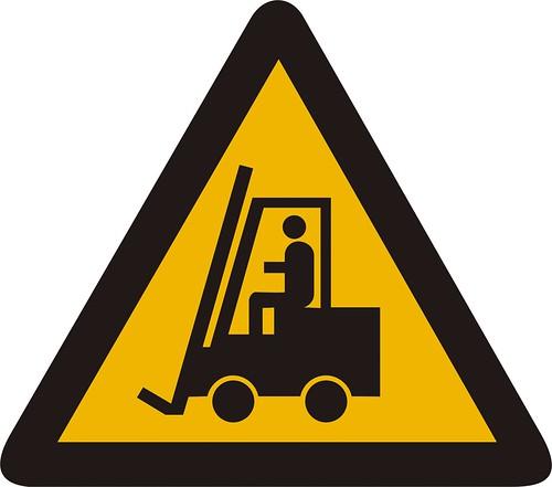 warning 4 fork lift truck