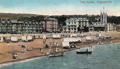 Teignmouth - The Sands (tipsy1topsy1) Tags: old early war postcard great machine nostalgia empire nostalgic ww1 machines bathing sands teignmouth 56ts43