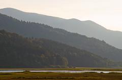 Layers (Karmen Smolnikar) Tags: plants lake nature water evening hills slovenia layers slovenija intermittent cerknica