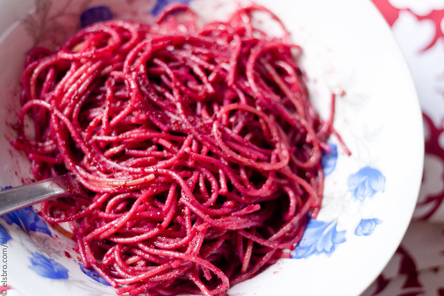 Dinner - Beetroot Pesto Pasta