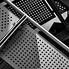 perfe-ect (Harry Halibut) Tags: road street bw abstract blancoynegro branco fire blackwhite steel sheffield images preto staircase portobello exit emergency regent zwart wit weiss bianco blanc nero allrightsreserved noire  noiretblac schwatz     anglesanglesangles circlescirclescircles obliquemind obliquamente contrastbysoftwarelaziness imagesofsheffield 2011andrewpettigrew sheff110703a315