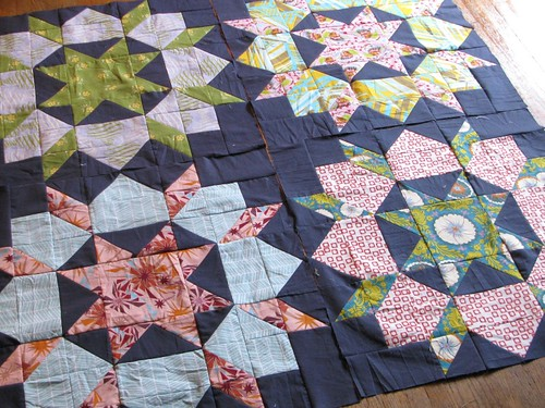Swoon quilt, the first four