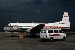 XT-MAL Avro(B.Ae) 748 Srs 2A-LFD Upper Volta Air Force MAN 28MAY83 (Ken Fielding) Tags: bae turboprop jetprop xtmal uppervoltaairforce avro748srs2a