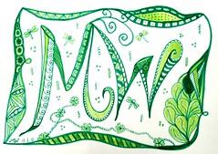 Zentangle  2011 07 17 challenge 30 (Margareth WALBECQ) Tags: zentangle