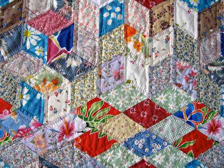 Dad's Quilt -- Hand Quilting