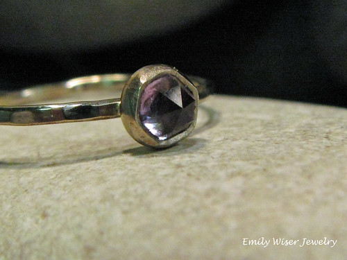 Rose Cut Amethyst Ring by EmilyWiserJewelry2011