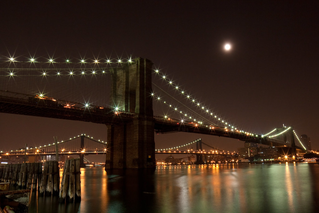Brooklyn Bridge, Full Moon
