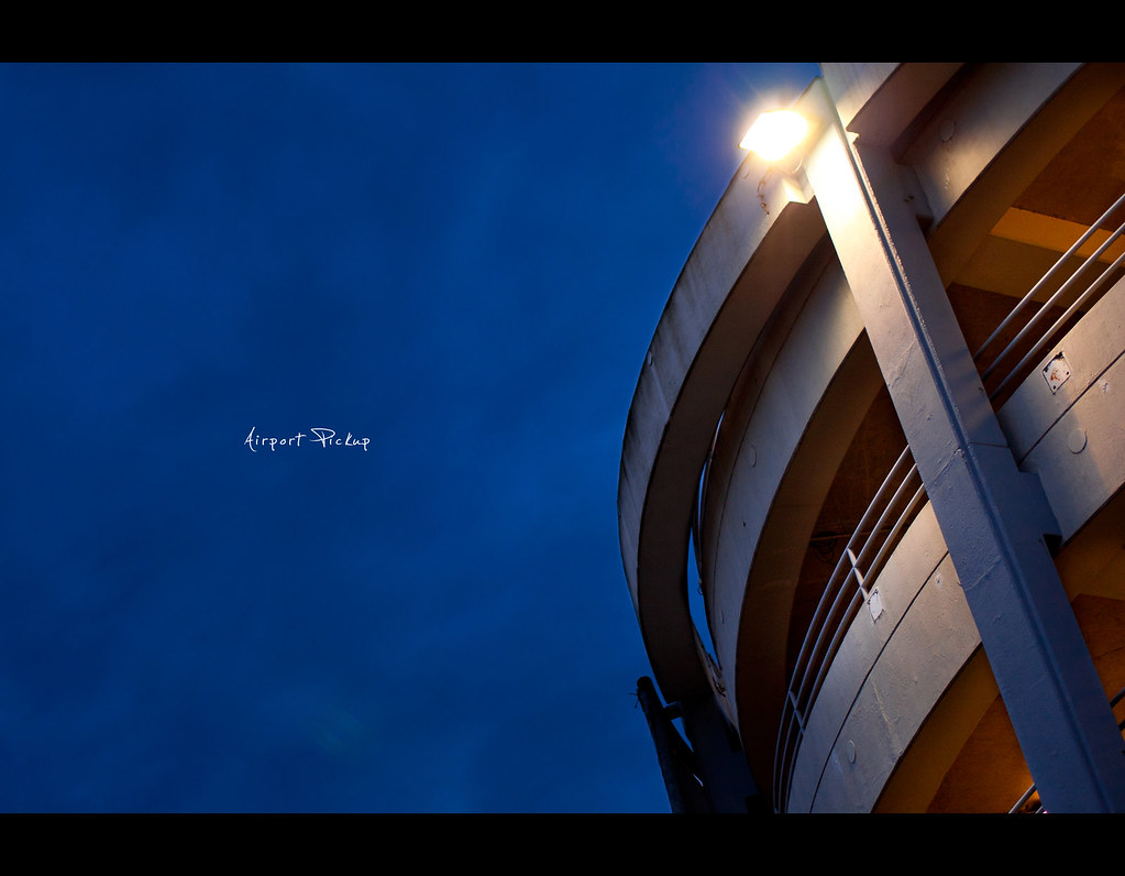 Project 365, Day 348, 348/365, structure, nightshot, parking space, garage, waiting, airport, Sigma 50mm F1.4 EX DG HSM