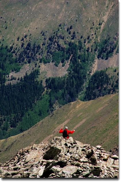 下山的登山客