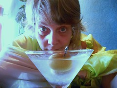 My First Martini--Daily Image 2011--July 20 (Rochelle Hartman) Tags: woman green olive martini gin 365days dailyimage2011