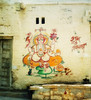 Ganesha Pondering (Eyecandi - Rob Hawke) Tags: india 35mm temple ganesha desert god fort scan negative indien jain jaisalmer rajasthan goldencity thardesert vighneshvara गणेश eyecandi vighnesha roberthawke विघ्नेश्वर विघ्नेश robhawke