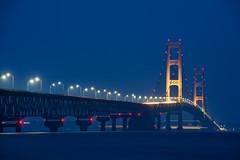 mackinaw bridge | mackinaw city, michigan (s o u t h e n) Tags: longexposure nightphotography bridge blue night nikon nightshot ryan michigan lakemichigan greatlakes bluehour nikkor suspensionbridge nocturne huron lakehuron mackinac mackinaw mackinawbridge 2011 southen ryansouthen 70200mm28 mackinawcitymichigan d3s ryansouthenphotography nikkor70200mm28 puremichigan nikond3s