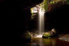 Hidden Waterfall (SOOC) EXPLORED (edwinemmerick) Tags: longexposure fern 20d water rock creek canon dark eos waterfall moss stream australia bluemountains canyon hike nsw bushwalk edwin emmerick