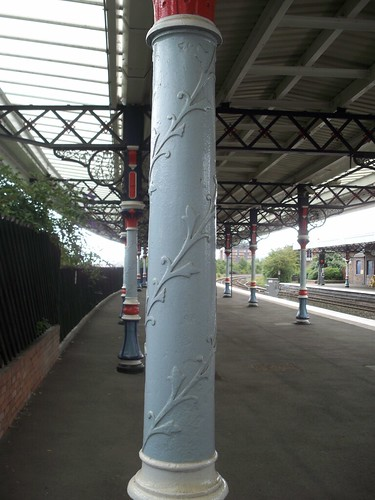 Middlesbrough Railway Station - columns by Andrew Handyside and Co Ltd of Derby and London