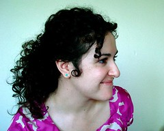A profile shot of Fatemeh Fakhraie.