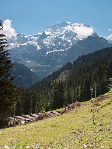 Walking from Winteregg to Mürren - view to Jungfrau