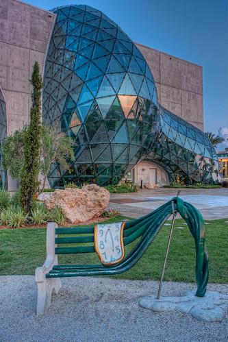 Salvador Dali Museum Bench