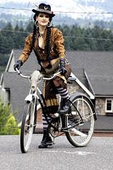 Portland Bicyclist (kenneth barton) Tags: woman beautiful fashion bike bicycle portland model handmade renee western portlandia pdx etsy lucretia steampunk dfb etsycom alternativefashion rathmann kennethbarton alternatibe lucretiarenee darkfusionboutique reneerathmann kennethbartonphotographer httpwwwetsycomshopdarkfusionboutique kennethbartonphotography