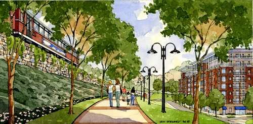 unified concept for development, trail & transit (by: atlanta beltline concept by Lord Aeck & Sargent Architecture via Your Guy for That, Dustin Drabot)