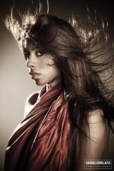 Brenda 28 (Daniele Melato - www.danielemelato.com) Tags: red woman girl face canon mouth hair eos donna eyes wind body 7d rosso bocca viso corpo vento ragazza daniele capelli faccia melato