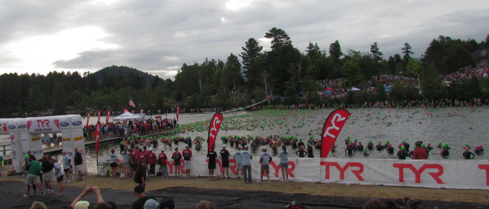 Sea of People Lake Placid Ironman 2011