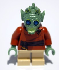 Front of the new Rodian minifig