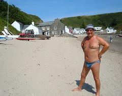 PJ on Porth Dinllaen beach (pj's memories) Tags: male wales briefs slip speedo vpl brief speedos bulge porthdinllaen tanthru bearinspeedos huskyinspeedos bearinbikinibrief bearinbiki7nibrief