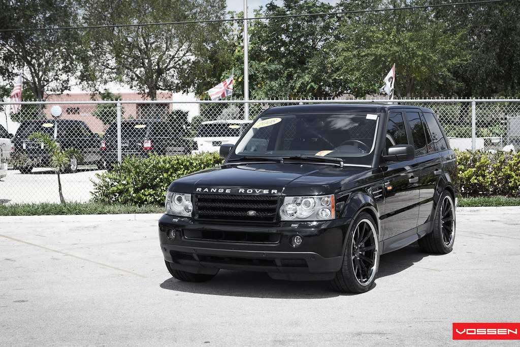 Blacked Out Range Rover  Vossen Wheels