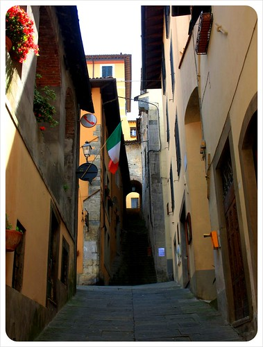 Empty street in Barga Tuscany