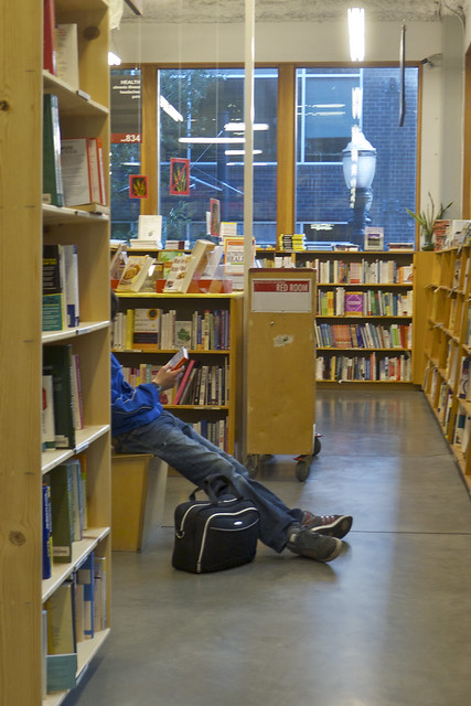 Kicking Back at Powell's City of Books