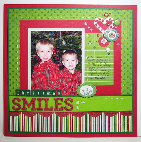 Peppermint Twist Christmas Smiles LO