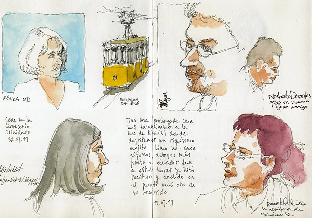 Lisbon, drawing friends