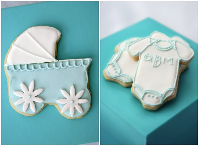 kelly mullin's baby shower cookies
