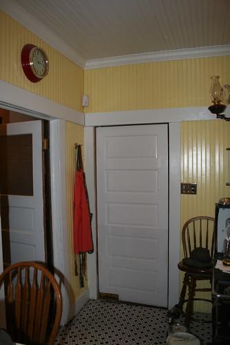 1915 Craftsman Bungalow Kitchen Dining Room Swing Door