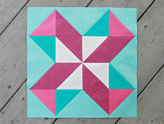Lucky Pieces (Fresh Lemons : Faith) Tags: quiltblock halfsquaretriangle patbravo solidfabric pureelements summersamplerseries